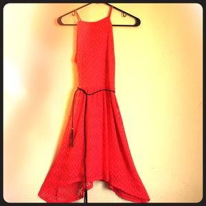 NEW Cute and Fun Red Dress with Black Tassle Wrap